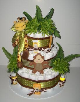 Jungle Baby Diaper Cake Tulsa Ok